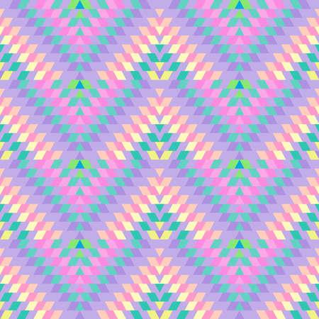 Modèle sans couture tapis turc rose lilas rose beige. Tapis kilim oriental en mosaïque patchwork avec ornement géométrique folklorique traditionnel. Style tribal. Illustration vectorielle