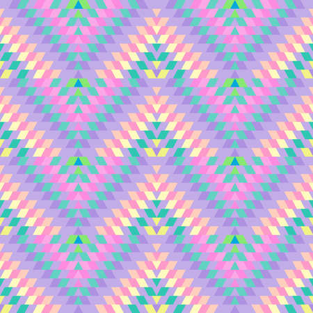 Seamless pattern Turkish carpet pink lilac purple pink beige. Patchwork mosaic oriental kilim rug with traditional folk geometric ornament. Tribal style. Vector illustration