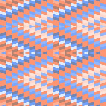 Seamless pattern Turkish carpet pink sky blue orange beige. Patchwork mosaic oriental kilim rug with traditional folk geometric ornament. Tribal style. Vector illustration
