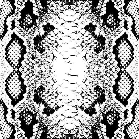 Snake skin scales texture. Seamless pattern black isolated on white background. simple ornament, Can be used for Gift wrap, fabrics, wallpapers. Vector illustration
