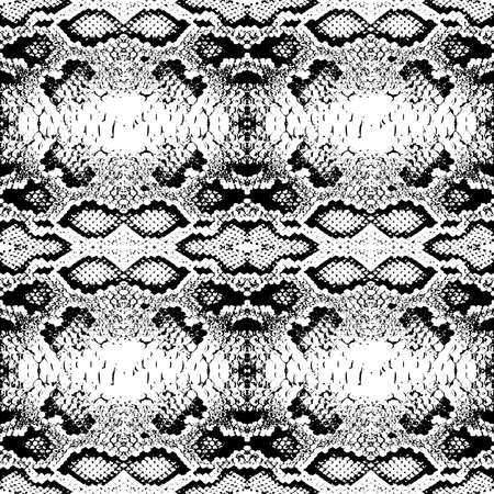 Snake skin scales texture. Seamless pattern black isolated on white background. simple ornament, fashion print and trend of the season Can be used for Gift wrap, fabrics, wallpapers. Vector illustration Stock Illustratie