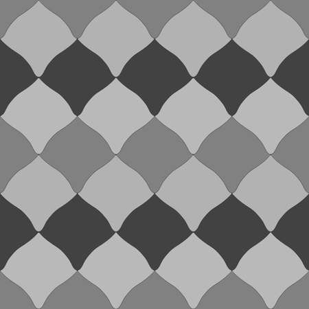 Seamless pattern abstract rhombus, square, traditional geometric damask ornament Gray black squared scandinavian background. Can be used for Gift wrap, fabrics, wallpapers. Vector illustration Ilustrace