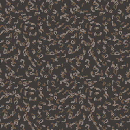 Seamless pattern black gray brown leopard panther fur design, abstract simple lines scandinavian background grunge texture. trend of the season. Can be used for Gift wrap fabrics wallpapers. Vector illustration