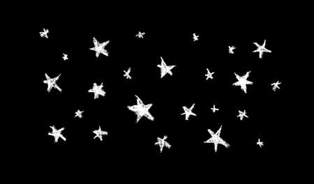 card banner poster design abstract sky stars, simple Nature chalk doodle lines scandinavian style background grunge texture. Nursery decor trend of the season, black white