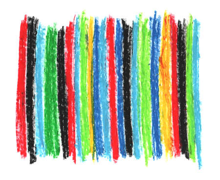 oil pastel red blue green yellow, crayons abstract retro for your design sketch freehand drawing doodle vertical lines scandinavian style background grunge texture. Nursery decor trend of the season 版權商用圖片