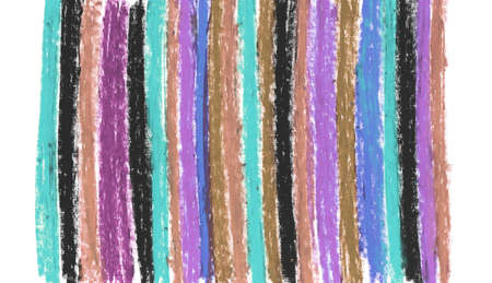 oil pastel lilac blue khaki tea, crayons abstract retro for your design sketch freehand drawing doodle vertical lines scandinavian style background grunge texture. Nursery decor trend of the season 版權商用圖片