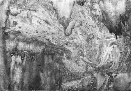 gray white black paint in monotype technique, abstract texture background for your design Imitation marble, granite. Paper marbling aqueous surface design, unique marble