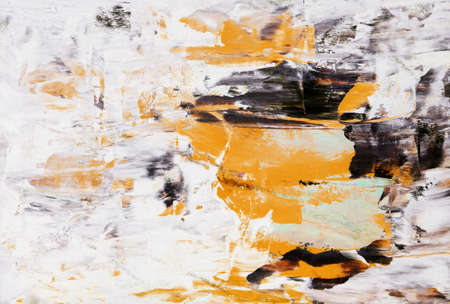 Painting, Modern Art contemporary. gradient, gouache acrylic paint in palette knife technique, abstract texture hand drawn background for your design. yellow burgundy beige black white brown orange 版權商用圖片