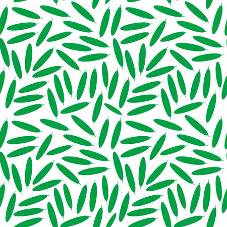 Seamless pattern with green cucumbers, isolated on white background trend of the season. Vector illustration  イラスト・ベクター素材
