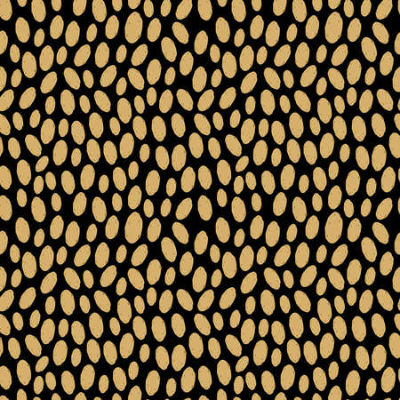 Seamless pattern with unpeeled potatoes, on black background trend of the season.  Vector illustration