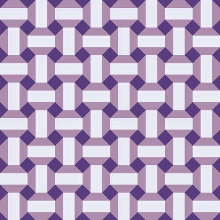 Classic vintage seamless pattern with abstract geometry 3d texture. violet lilac background. Can be used for greeting card design, Gift wrap, fabrics, wallpapers. Vector illustration