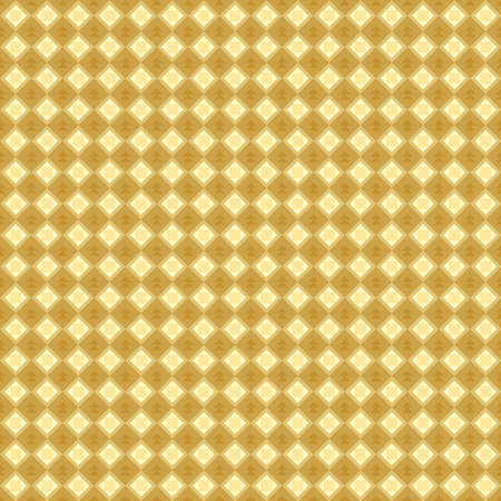 Classic vintage seamless pattern with abstract geometry texture. Golden orange yellow monochrome metallic background. Can be used for greeting card design, Gift wrap, fabrics, wallpapers. Vector illustration