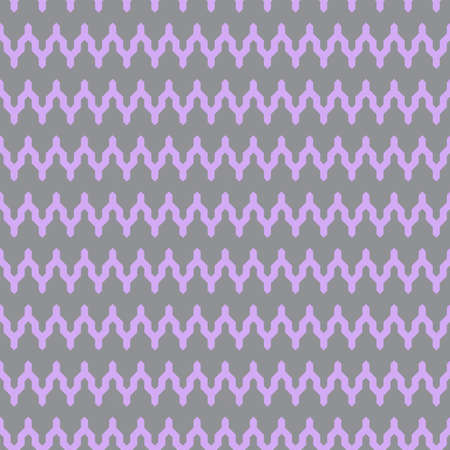 Classic vintage seamless pattern with zigzag chevron triangles scandinavian style. lilac on gray background. Can be used for greeting card design, Gift wrap, fabrics, wallpapers. Vector illustration  イラスト・ベクター素材