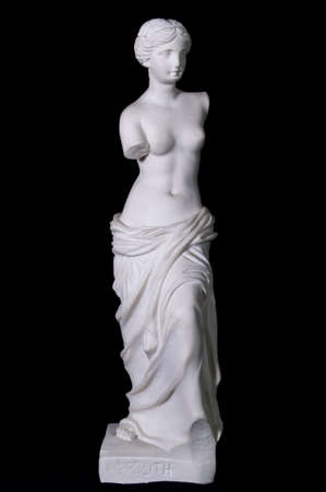 """diosa griega: Estatua de mármol blanco clásico """"Afrodita de Milos"""" aislados Foto de archivo"""