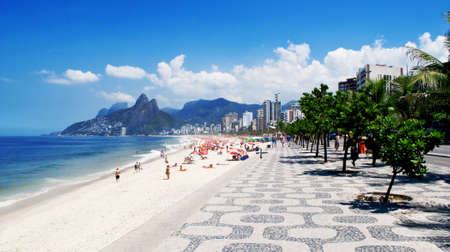 brazil beach: Ipanema beach  Rio de Janeiro