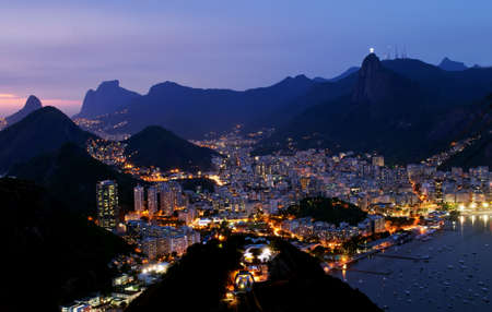 brazil beach: Night view of Botafogo in Rio de Janeiro