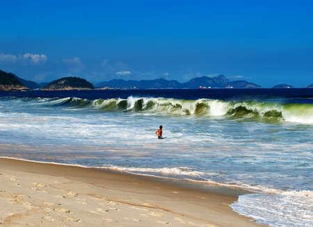 view of Copacabana beach  Rio de Janeiro