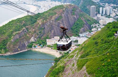 The cable car to Sugar Loaf in Rio de Janeiro Stock Photo