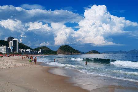 view of Copacabana beach in  de Janeiro  Brazil Stock Photo - 13253575