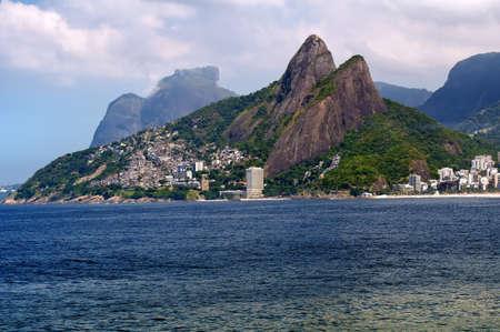 Leblon and the Mountain Dois Irmao in Rio de Janeiro