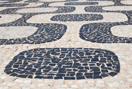 Mosaic of sidewalk Ipanema in Rio de Janeiro