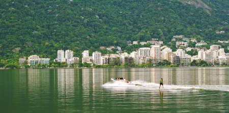 View of Lagoa Rodrigo de Freitas in Rio de Janeiro  Brazil photo