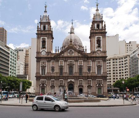 rio de janeiro: church  Nossa Senhora da Candelaria  in Rio de Janeiro