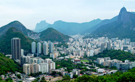 view of Botafogo and Corcovado in Rio de Janeiro photo