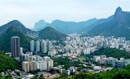 vista de Botafogo y Corcovado en Río de Janeiro Foto de archivo - 13488992