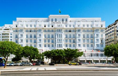 View of hotel Copacabana Palace in Rio de Janeiro
