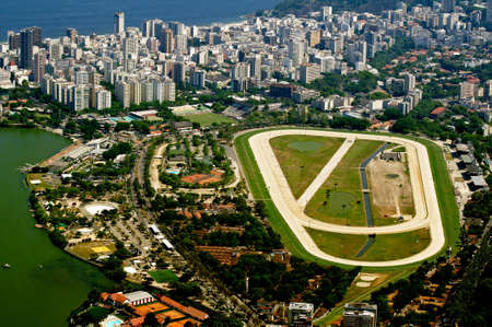 view of jockey club and Leblon in Rio de Janeiro photo