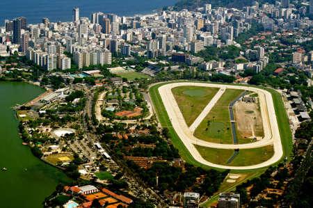 view of jockey club and Leblon in Rio de Janeiro Stock Photo
