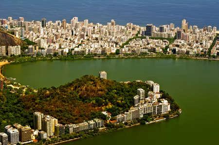 View of Lagoa Rodrigo de Freitas, district Ipanema  Rio de Janeiro Stock Photo