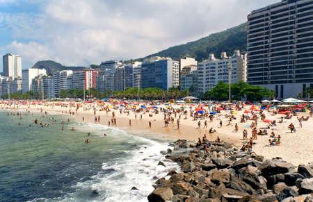 Beach Leme and Copacabana in Rio de Janeiro photo