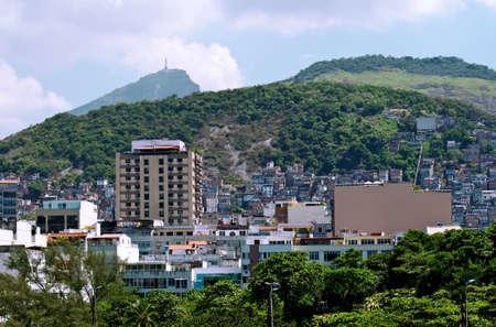 View of Ipanema, Corcovado and favela in Rio de Janeiro photo