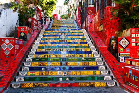 The stairway Selaron in Santa Teresa in Rio de Janeiro