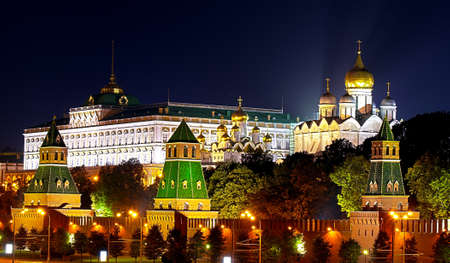 kremlin: View of Grand Kremlin Palace and cathedrals in The Moscow Kremlin