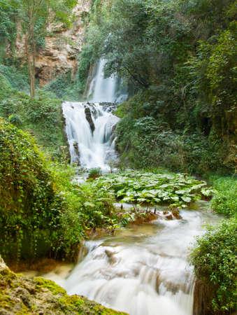 Waterfall in Villa Gregoriana in Tivoli  Italy Stock Photo - 15929545