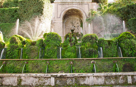 The Hundred Fountains in villa d'Este in Tivoli  Italy Stock Photo - 15929585