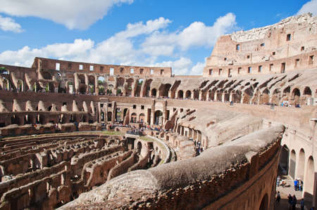 View of Colosseum in Rome, Italy  photo