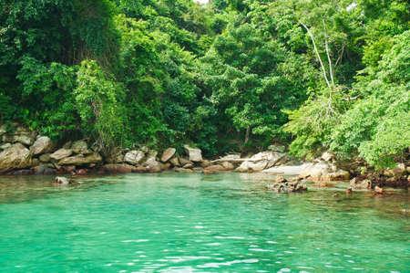 Blue Lagoon in Angra dos Reis  Rio de Janeiro  Brazil