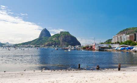 The mountain Sugar Loaf and Urca in Rio de Janeiro