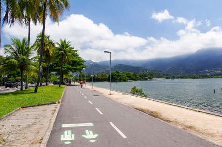View of Lagoa Rodrigo de Freitas in Rio de Janeiro  Brazil