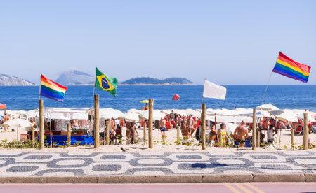 homosexuales: Playa de los gays en Ipanema en Río de Janeiro Brasil
