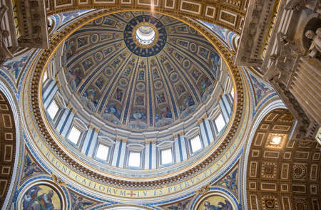 st peter s basilica: Dome of the St  Peter s Basilica in Rome, Italy