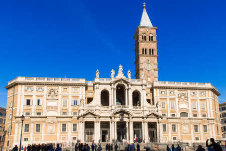 maggiore: The Papal Basilica of Saint Mary Major  Basilica Papale di Santa Maria Maggiore , the largest Roman Catholic Marian church in Rome, Italy   Stock Photo