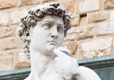 Michelangelo s replica David statue  Florence, Italy photo