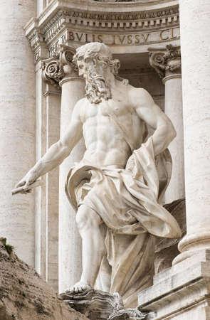 Neptune of Trevi Fountain  Fontana di Trevi  in Rome