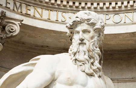 fontana: Neptune of Trevi Fountain  Fontana di Trevi  in Rome