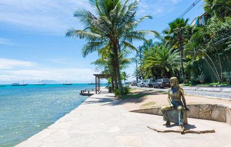 Seafront of Brigitte Bardot in Buzios, Rio de Janeiro  Brazil 스톡 콘텐츠